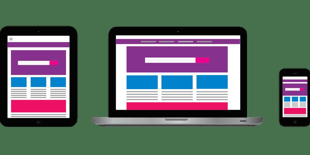 modelo de site em dispositivos
